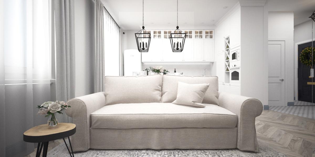 """Диван - Furman """"Brabus Elegance"""";  Фасады на кухню, карниз декоративный профилированный: IKEA """" БУДБИН"""""""