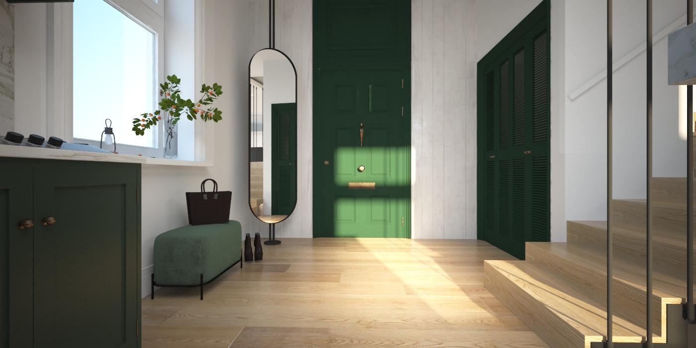 """Молдинг над входной дверью(со стороны прихожей) - Orac Decor  """" P9010 """" ;  Мебель - изготовление под заказ"""