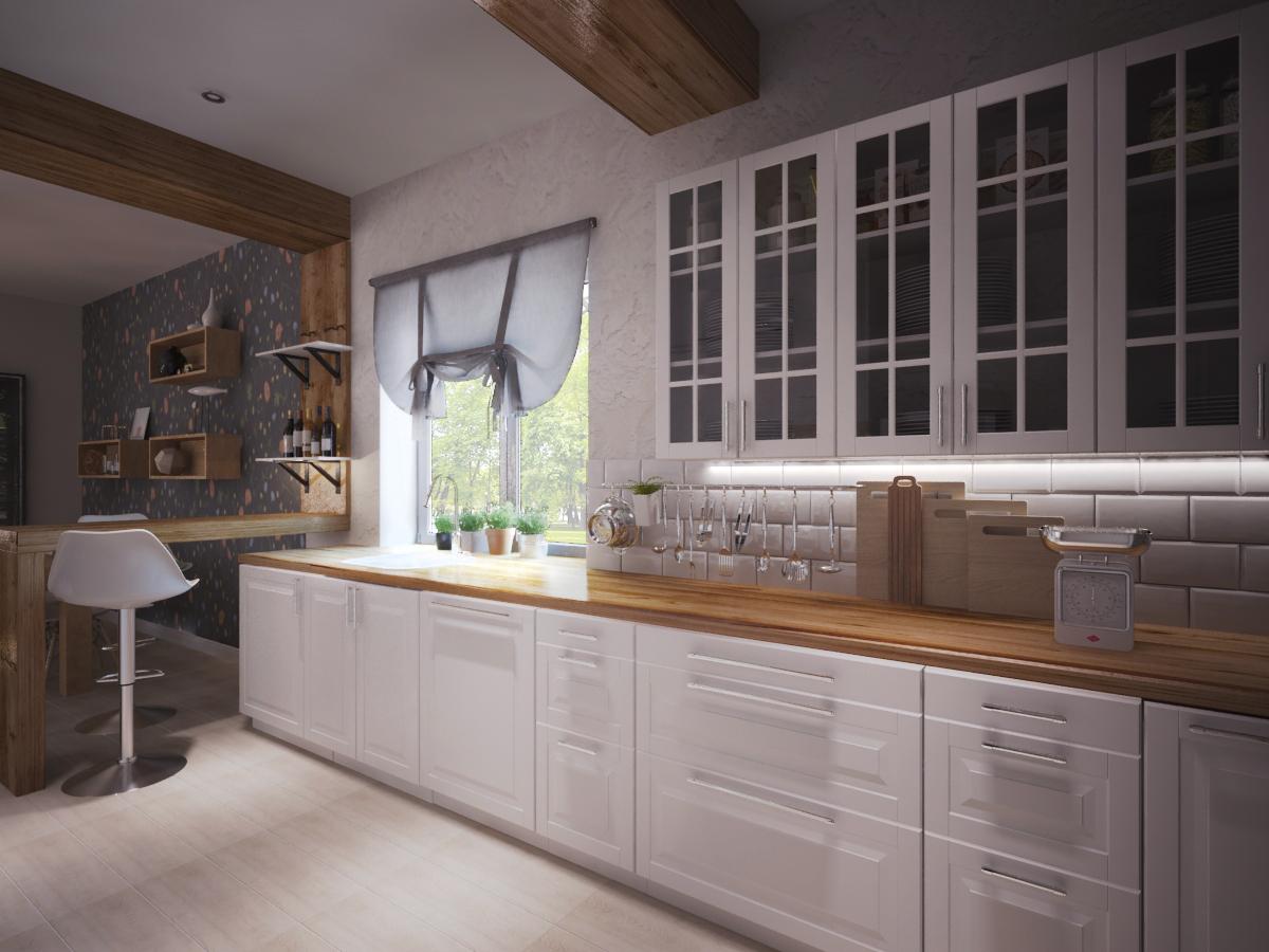 Кухонный фасад - пример  - IKEA «БУДБИН»