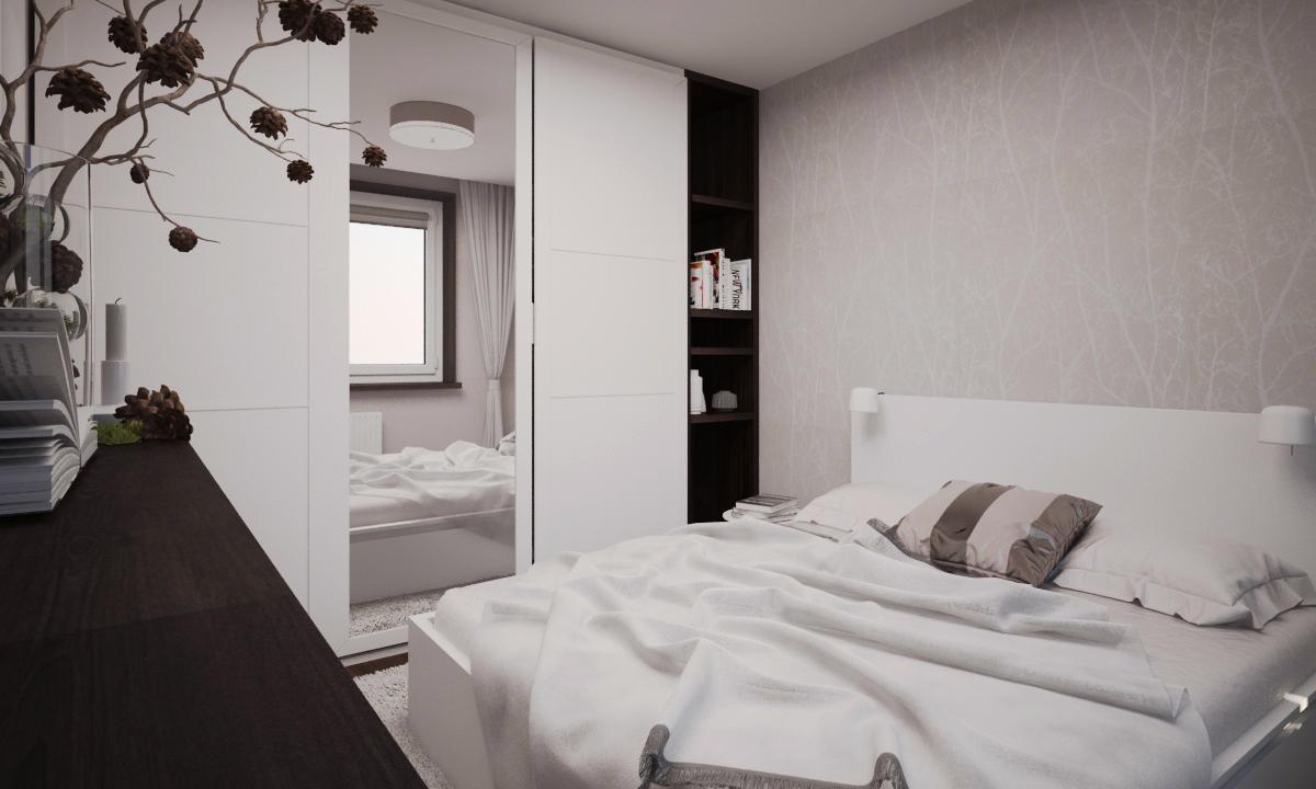 """Кровать с двумя ящиками - IKEA «МАЛЬМ» (БЕЛАЯ) Арт.  392.110.25;  Обои - B.N. """"Summer breeze"""" Арт.17890"""